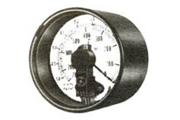 Potentiometric Transmitter is mounted directly on the dial and pointer of the potentiometer is coupled to the instrumentl pointer.