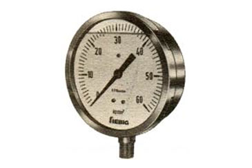 Liquid Filled Gauges, These gauges are ideal where pressure gauge is subjected to severe conditions. The I filled liquid protects the internal parts against vi.bratio(ls and also lubricates and protec~ from environmental conditions.